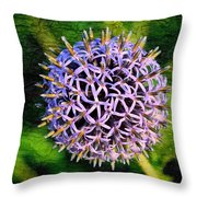 Purple Ball Throw Pillow
