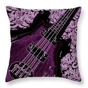 Purple Bass Throw Pillow
