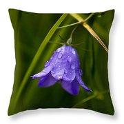 Purple Bell Throw Pillow