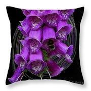 Purple Bells Throw Pillow