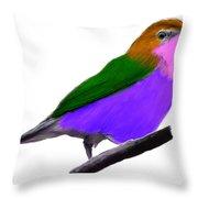 Purple Belly Warbler Throw Pillow