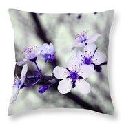 Purple Blossoms Throw Pillow