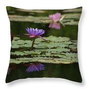 Purple Blossoms Floating Throw Pillow