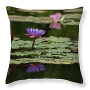 Purple Blossoms Floating Throw Pillow by Patricia Twardzik