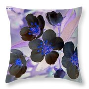 Purple Blue And Gray Throw Pillow