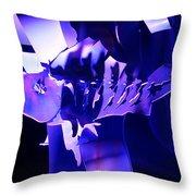 Purple Blue Fish...   # Throw Pillow