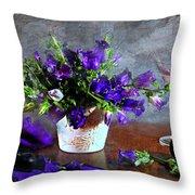 Purple Blues Throw Pillow