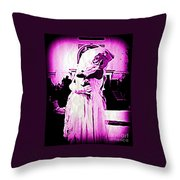 Purple Bride Throw Pillow