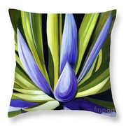 Purple Cactus Throw Pillow