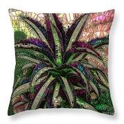 Purple Cactus II Throw Pillow