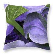 Purple Calla Lily Bush Throw Pillow
