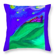 Purple Castle By Jrr Throw Pillow