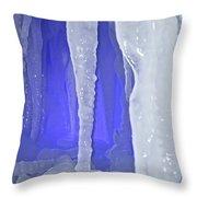 Purple Cave Throw Pillow