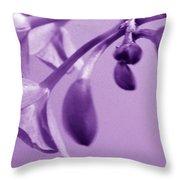 Purple Charm Throw Pillow