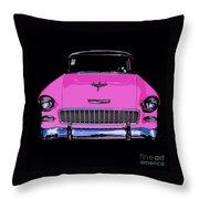 Purple Chevy Pop Art Throw Pillow