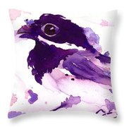 Purple Chick Throw Pillow