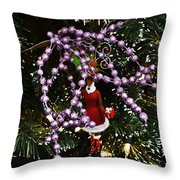 Purple Christmas Throw Pillow