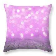 Purple Lights Blur  Throw Pillow