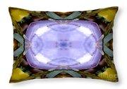 Purple Clam Shell Mandala Yantra Throw Pillow by Marie Jamieson