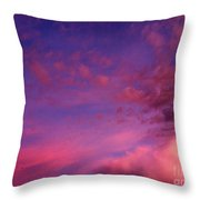 Purple Clouds Majesty Throw Pillow