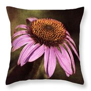Purple Cone Flower II Throw Pillow