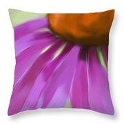 Purple Cone Throw Pillow