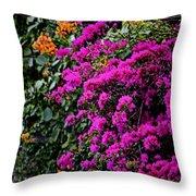 Purple Contrast Throw Pillow