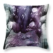Purple Coral2 Throw Pillow
