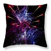 Purple Crown Throw Pillow