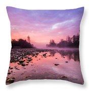 Purple Dawn Throw Pillow by Davorin Mance
