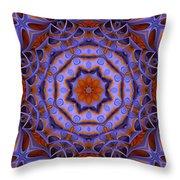 Purple Design 2 Throw Pillow