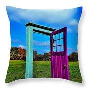 Purple Door - Alternate Reality - Canada Throw Pillow