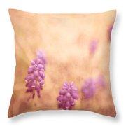 Purple Dreamy Throw Pillow