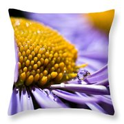 Purple Drop Throw Pillow