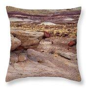 Purple Earth Throw Pillow