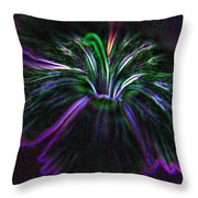 Purple Edges Throw Pillow