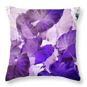 Purple Elephants Throw Pillow