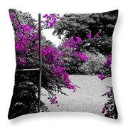 Purple Entrance Throw Pillow