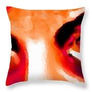 Purple Eyes - Marcello Cicchini Throw Pillow