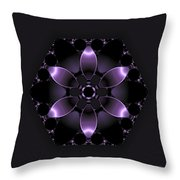Purple Fantasy Flower Throw Pillow