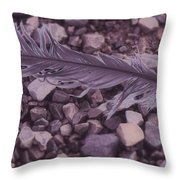 Purple Feather Throw Pillow