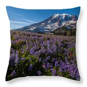 Purple Fields Forever And Ever Throw Pillow
