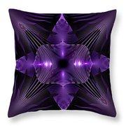 Purple Fingerz Throw Pillow