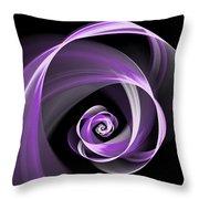 Purple Flirt Throw Pillow