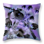 Purple Flower Abstract  2 Throw Pillow