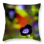 Purple Flower Throw Pillow
