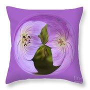 Purple Flower Orb Throw Pillow