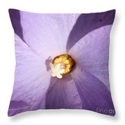 Purple Flower Square Throw Pillow