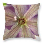 Purple Flower Throw Pillow by Thomas Leon