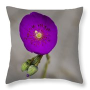 Purple Flower With Buds Throw Pillow
